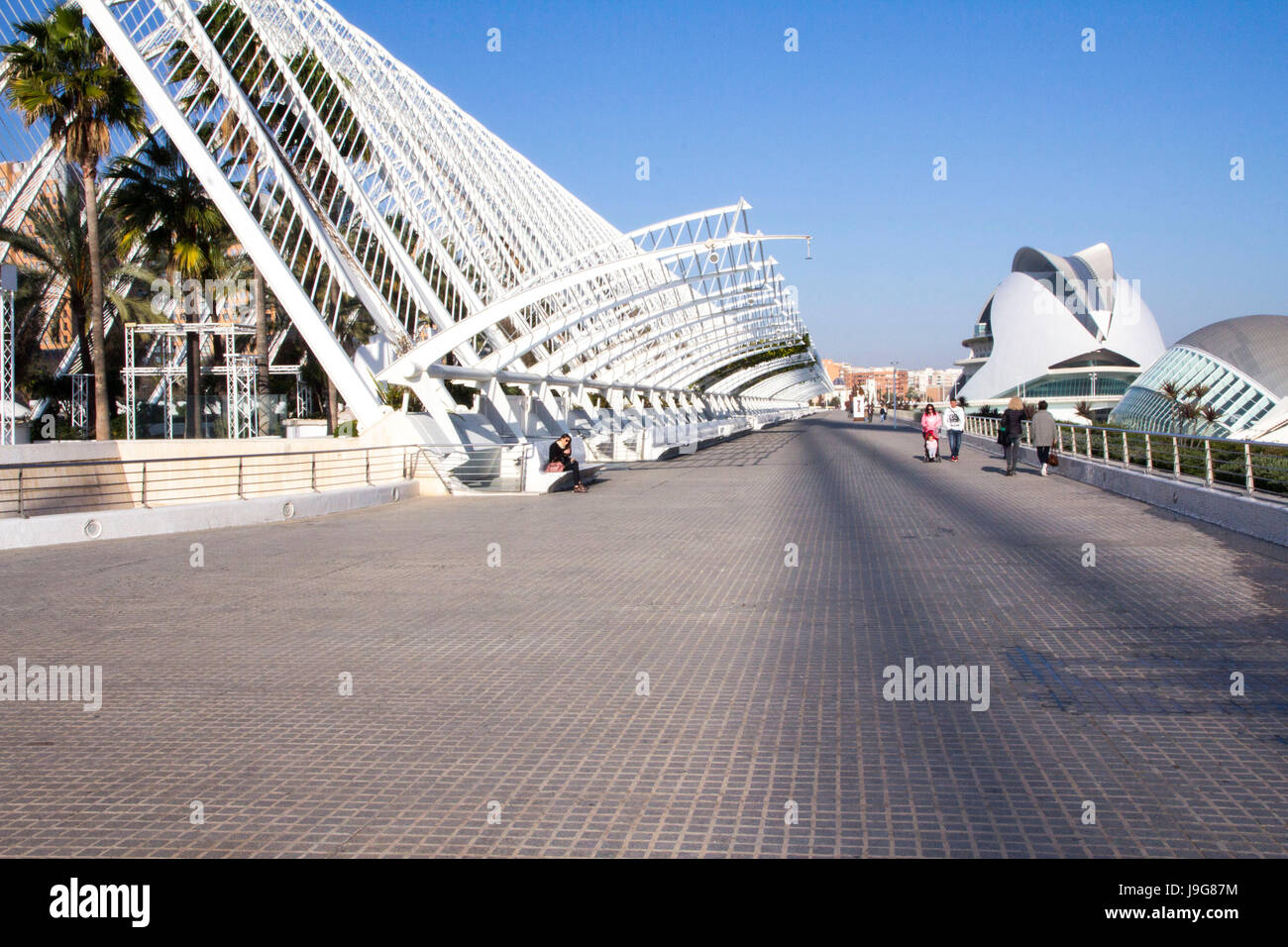 The City of Arts and Sciences is a futuristic cultural and entertainment complex in Valencia, designed principally - Stock Image