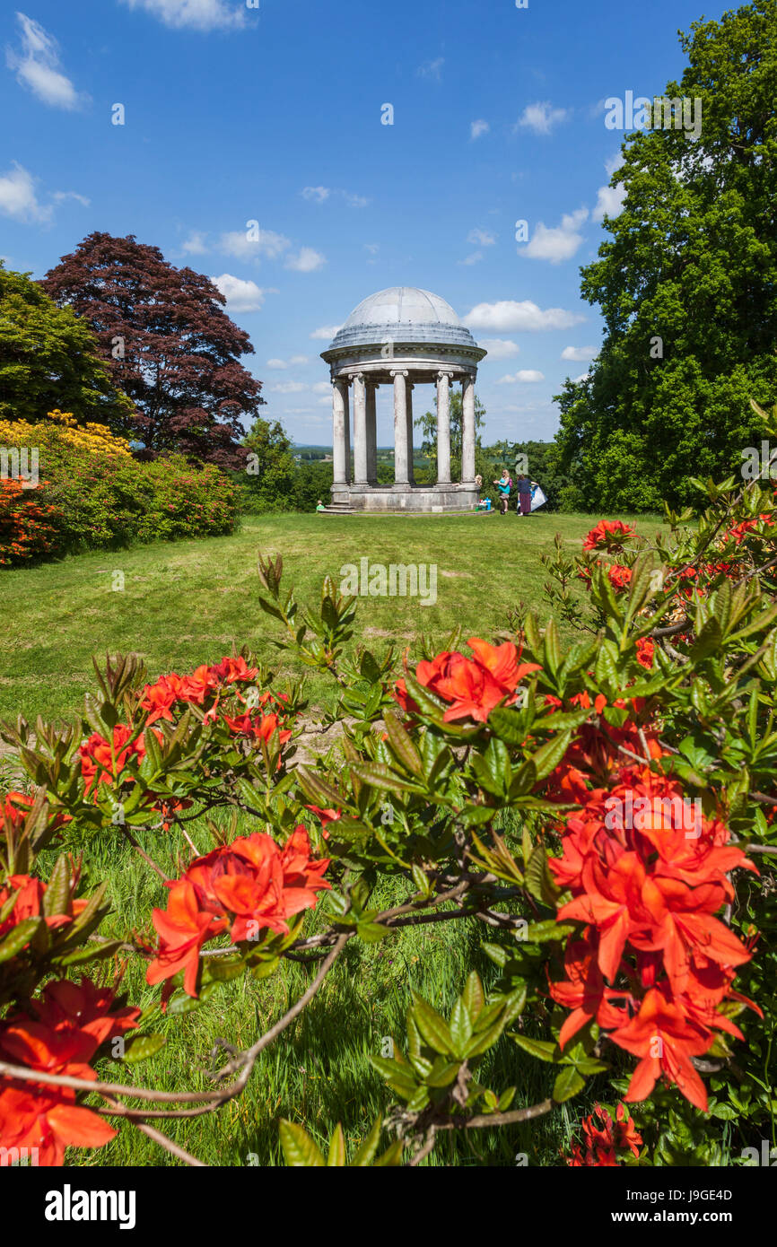 England, West Sussex, Petworth, Petworth House, The Gardens and Ionic Rotunda, - Stock Image