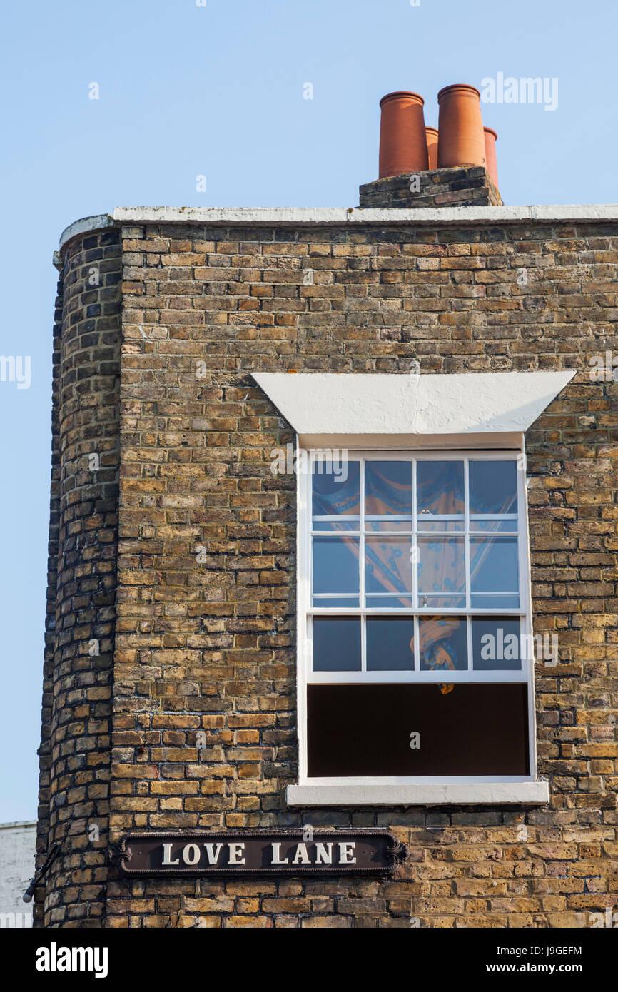 England, Kent, Margate, Old Town, 'Love Lane' Street Sign, - Stock Image