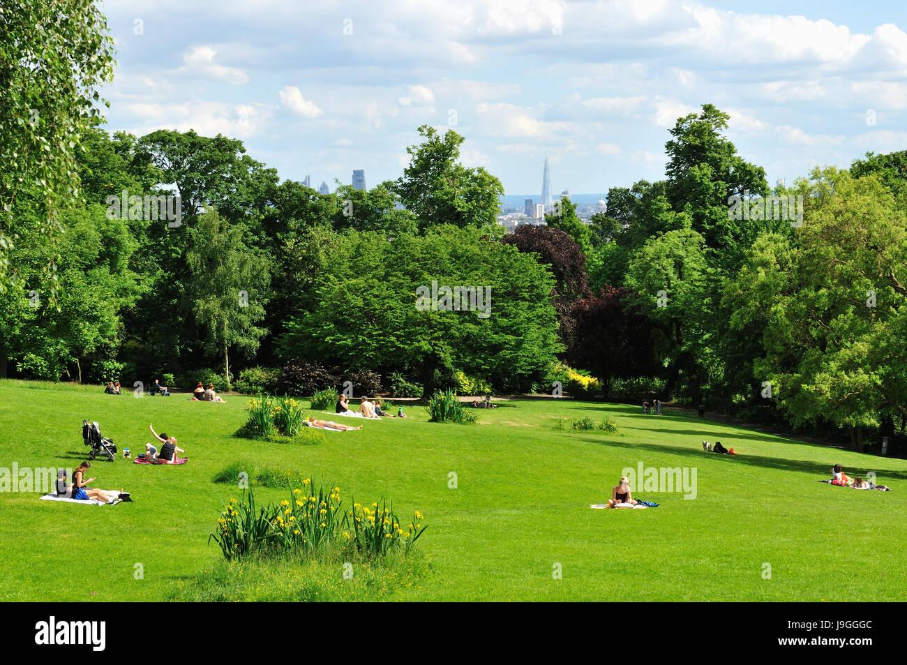 Waterlow Park, Highgate, North London UK - Stock Image