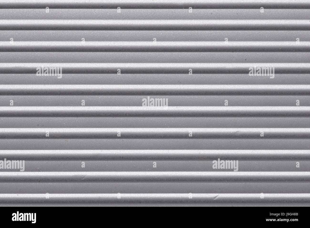 detailed corrugated metallic surface, horizontal orientation - Stock Image