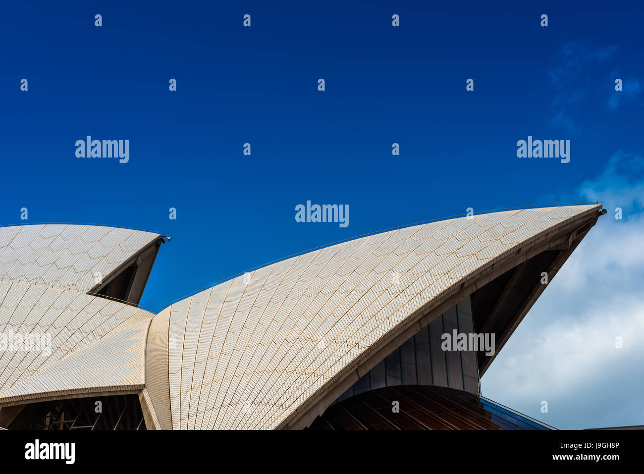 Sydney Opera house, close up detail. Sydney, NSW, Australia - Stock Image