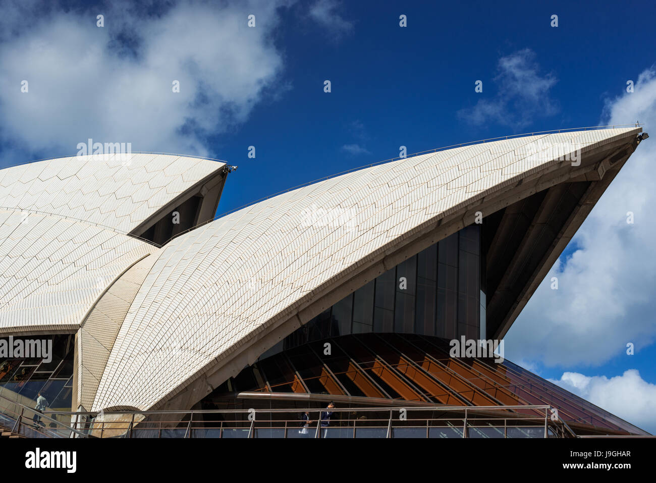 Sydney Opera House sails, Sydney, New South Wales, Australia. - Stock Image