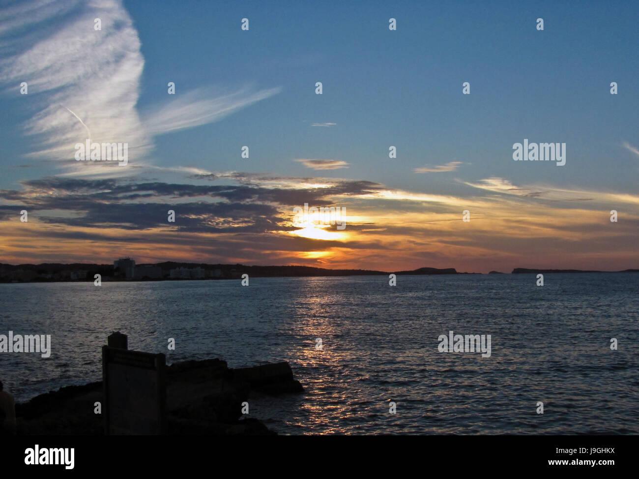 Sunsen in Ibiza - Stock Image