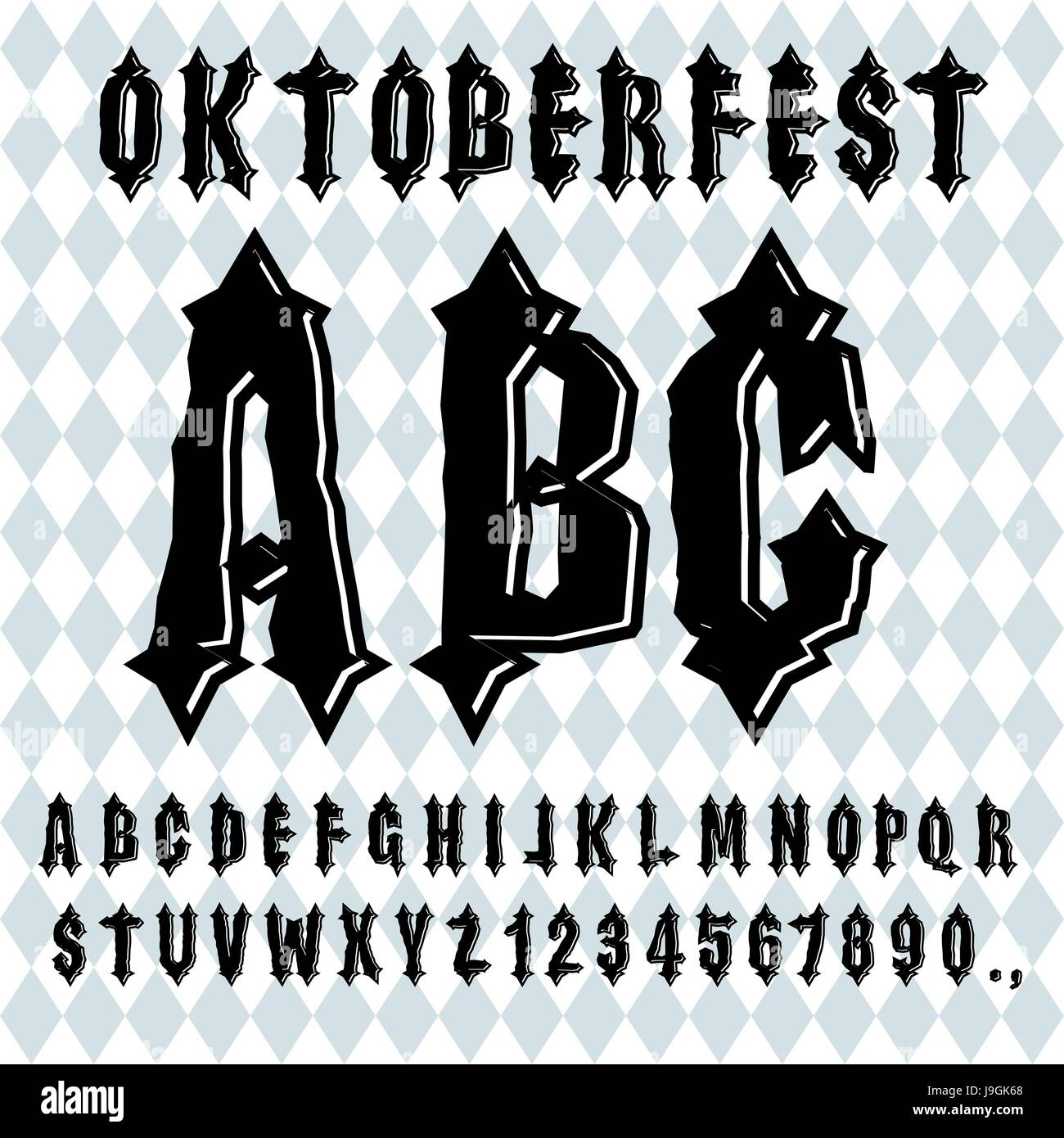Ancient Gothic Alphabet Vintage Typography Old Letters ABC For National Holiday In Germany