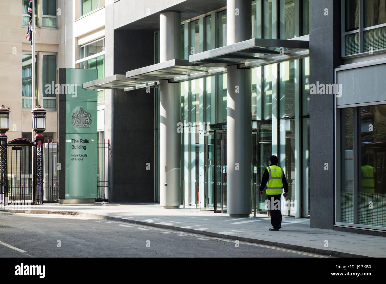 The Rolls Building, a court building designed by Woods Bagot, Royal Courts of Justice, Fetter Lane, City of London, - Stock Image