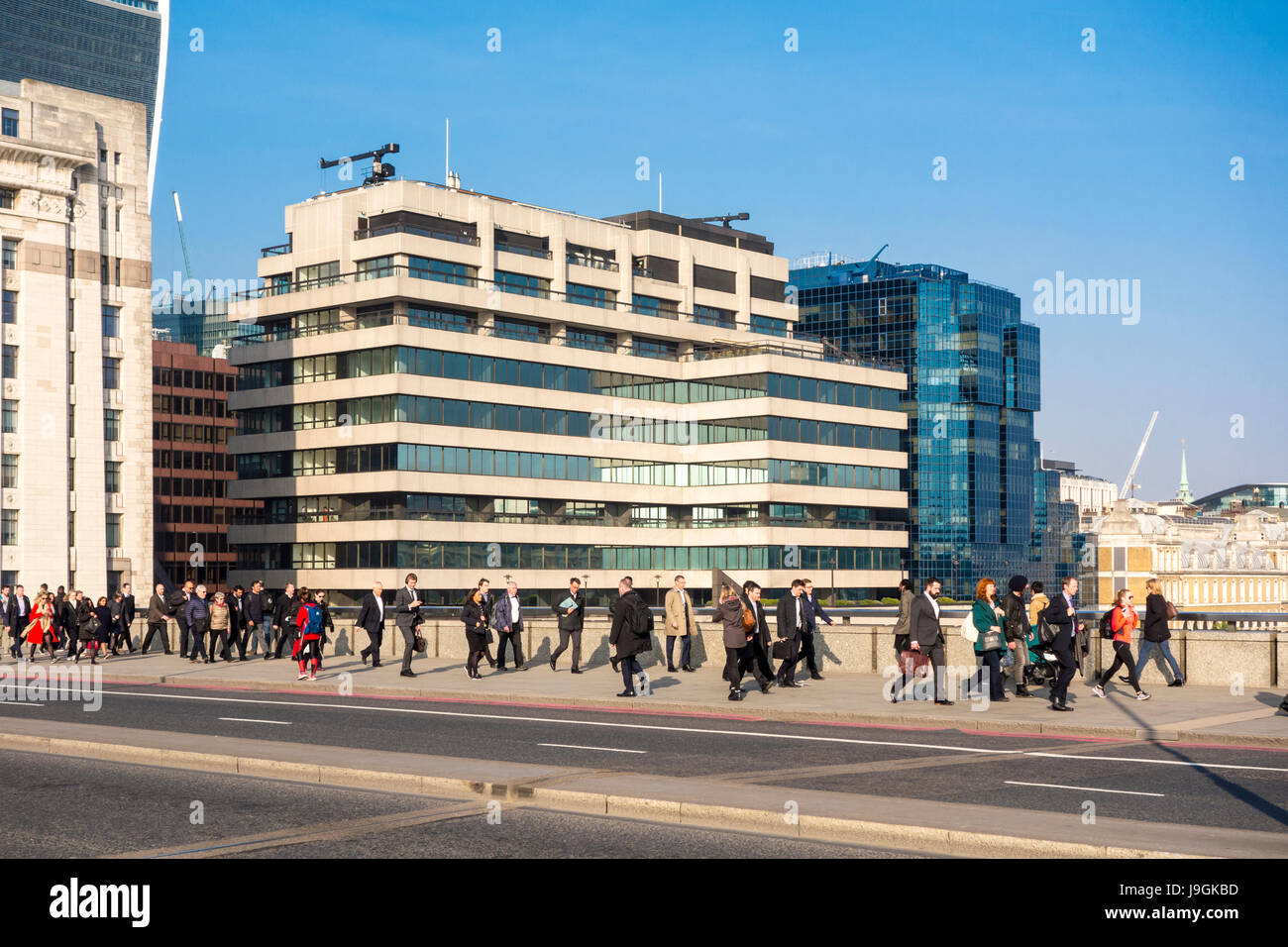 St Magnus House, 3 Lower Thames Street, seventies high rise office block on the bank of the Thames, City of London, - Stock Image