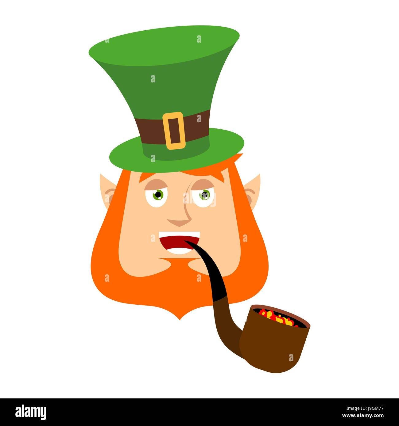 3797d31a34a0a Dwarf with red beard merry Emoji. Irish elf emotions. St.Patrick  s Day.  Holiday in Ireland