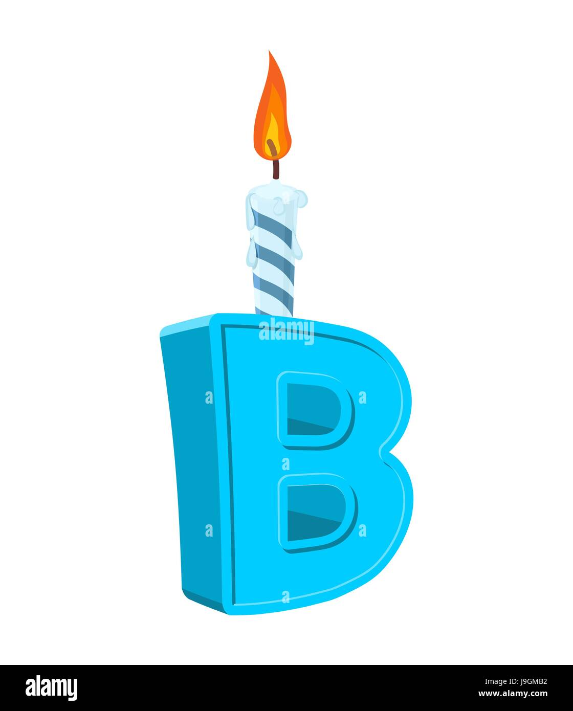 letter b birthday font letter and candle anniversary alphabet sign celebratory abc