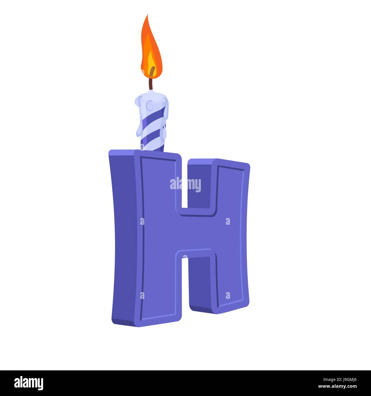 letter h birthday font letter and candle anniversary alphabet sign celebratory abc