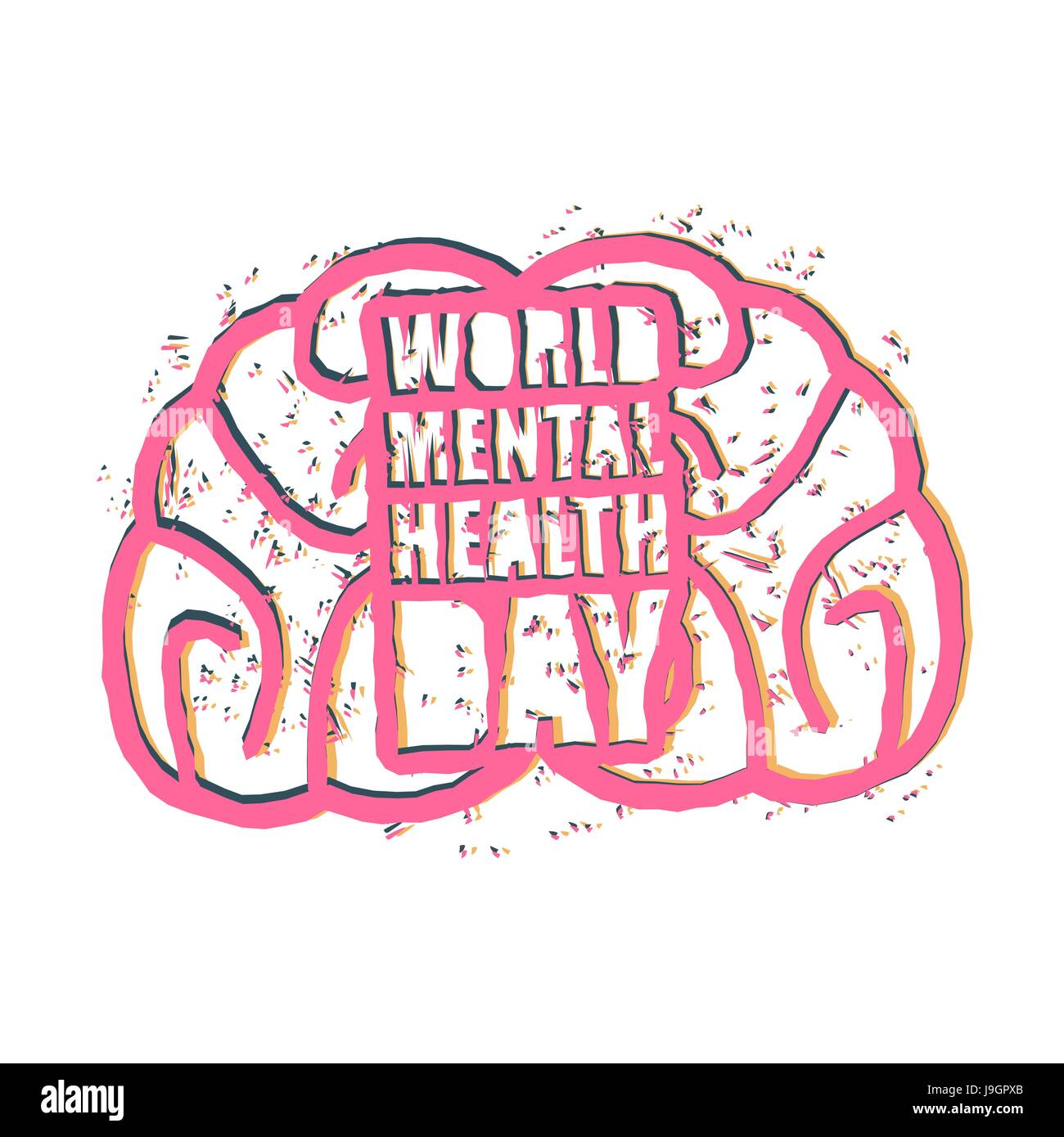 World Mental Health Day Brain Cut Out Stock Images Pictures Alamy