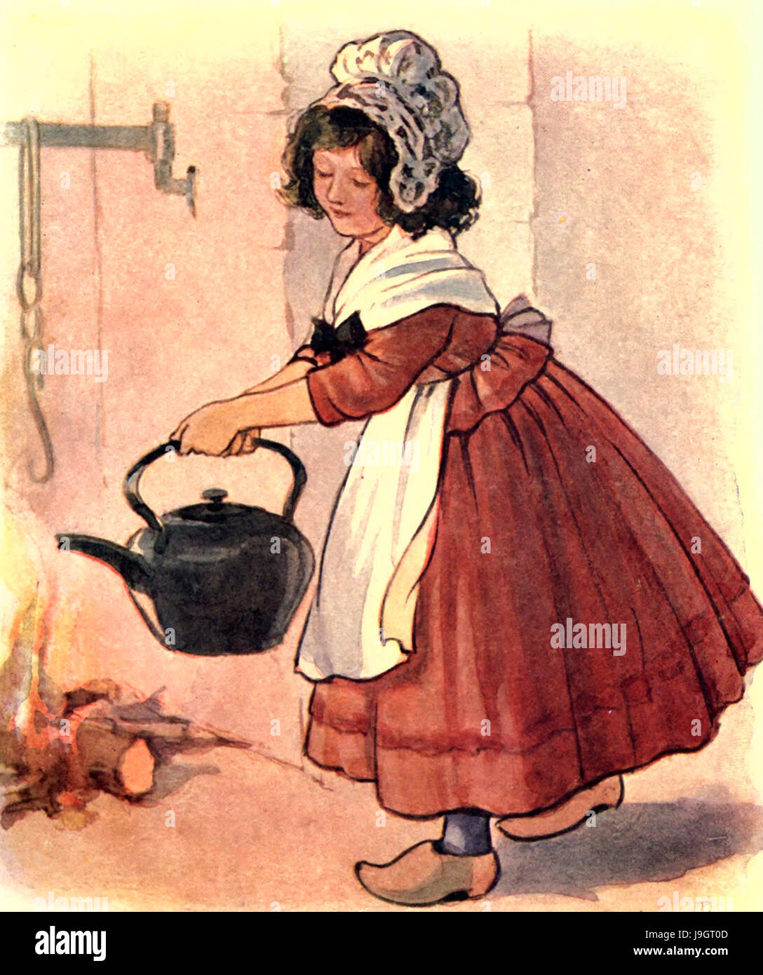 Polly, Polly, Put the kettle on - Nursery Rhyme - Stock Image