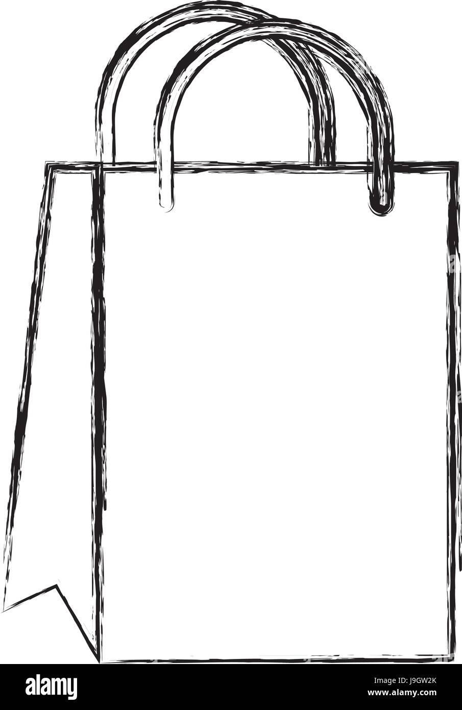 Sketch Draw Gift Bag Cartoon Stock Vector Art Illustration Vector