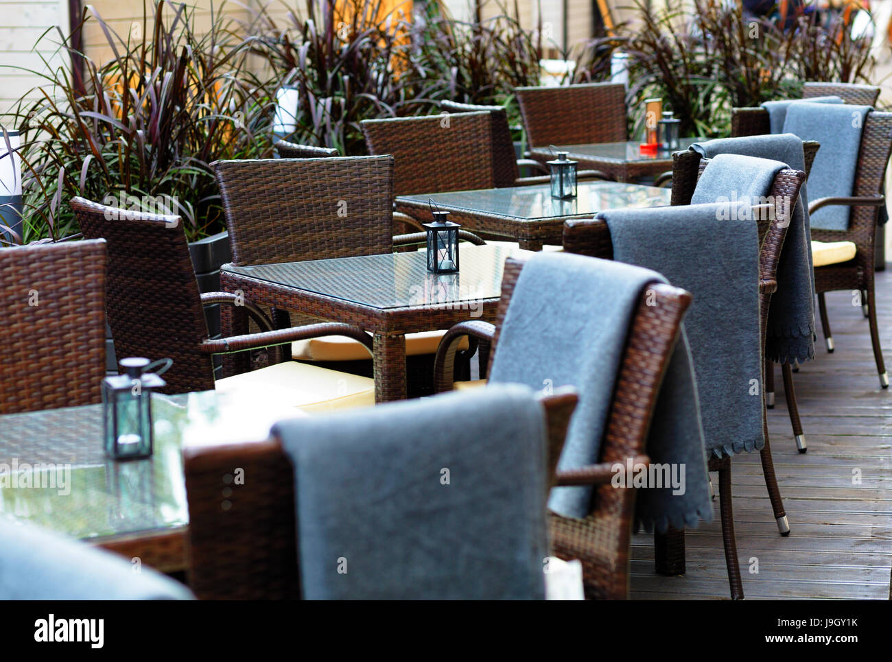 Amazing Outside Patio Of An European Restaurant Tables And Brown Download Free Architecture Designs Aeocymadebymaigaardcom