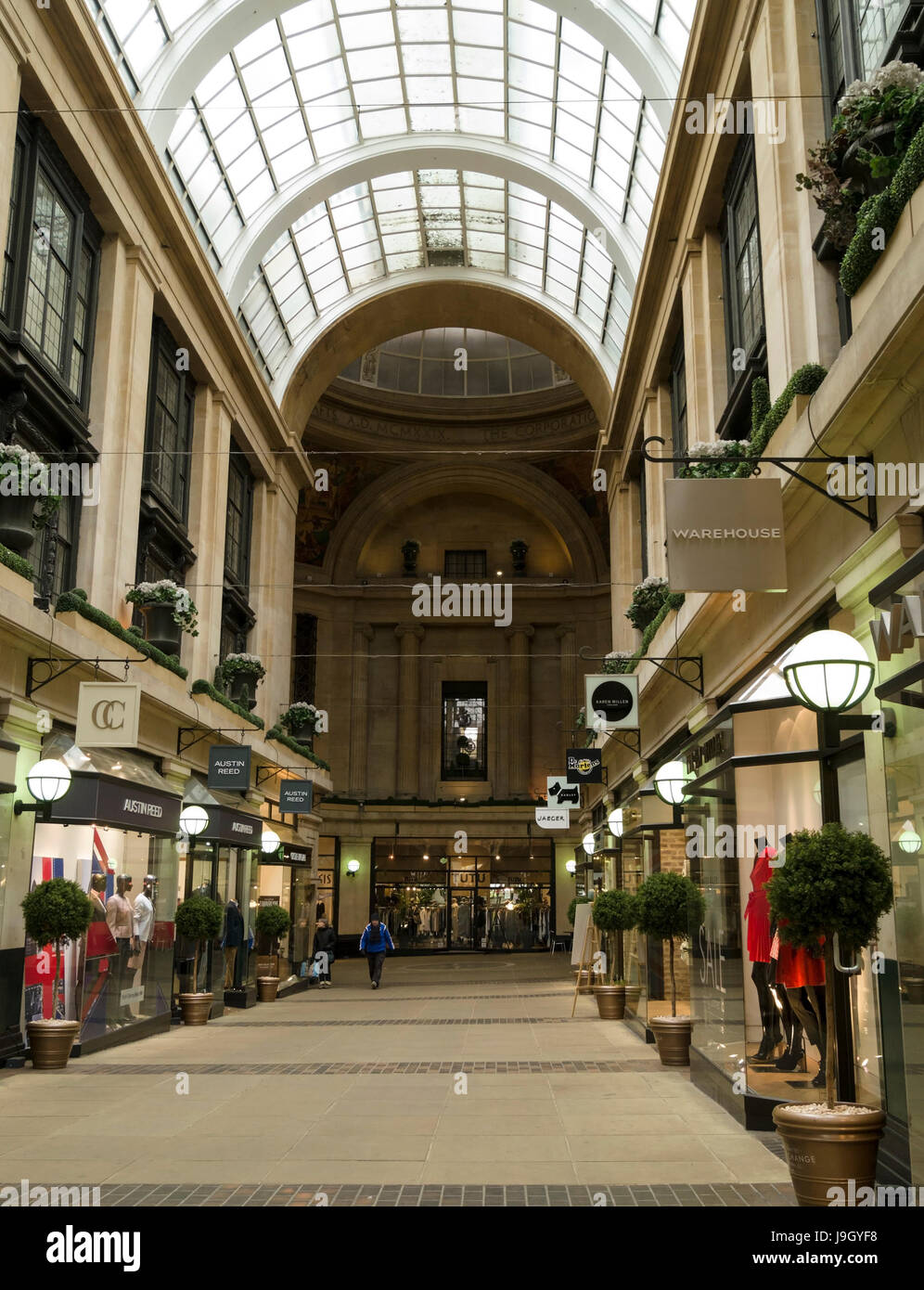 Interior of the Exchange Arcade shopping arcade, Nottingham, England, UK - Stock Image
