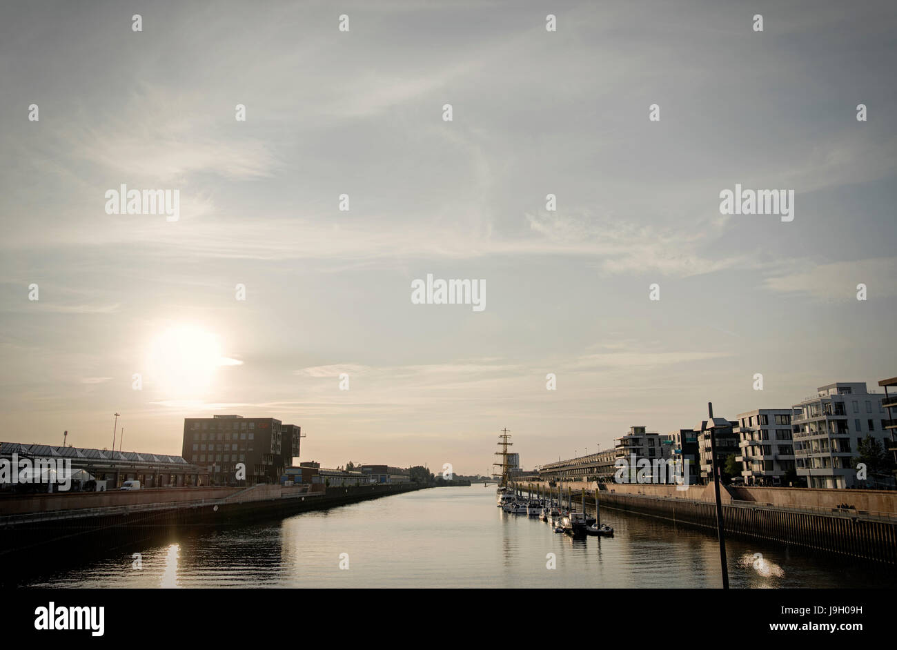 Europahafen Bremen Stock Photo