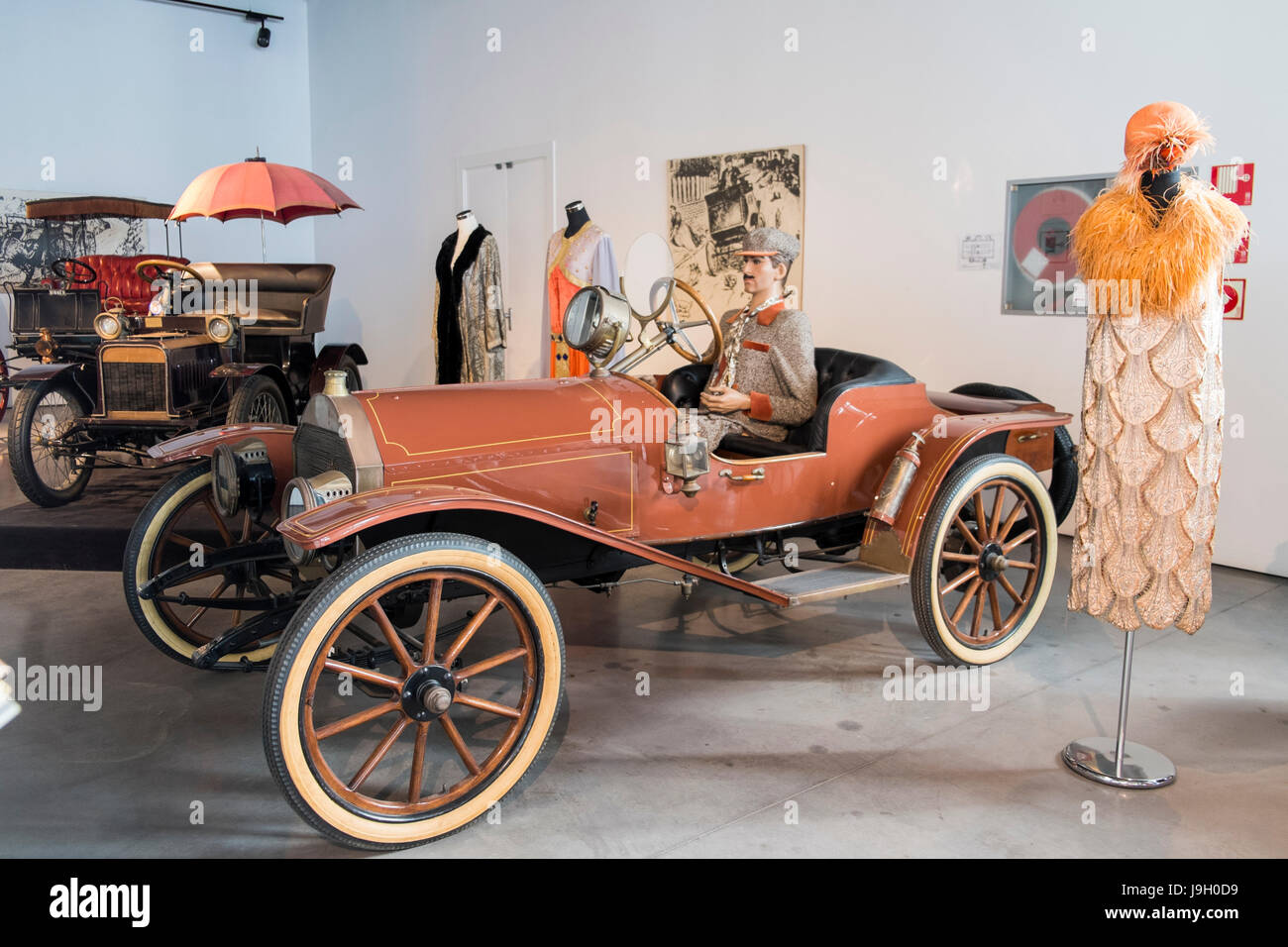 1912 Hupmobile. Automobile museum of Málaga, Andalusia, Spain. - Stock Image