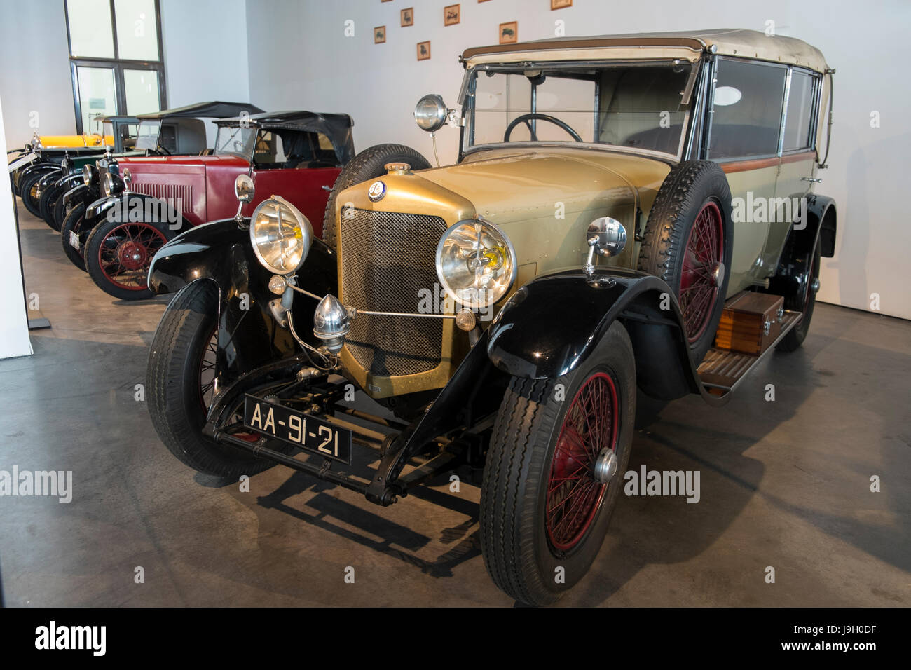 1928 Ballot 'Convertible body'. Automobile museum of Málaga, Andalusia, Spain. - Stock Image