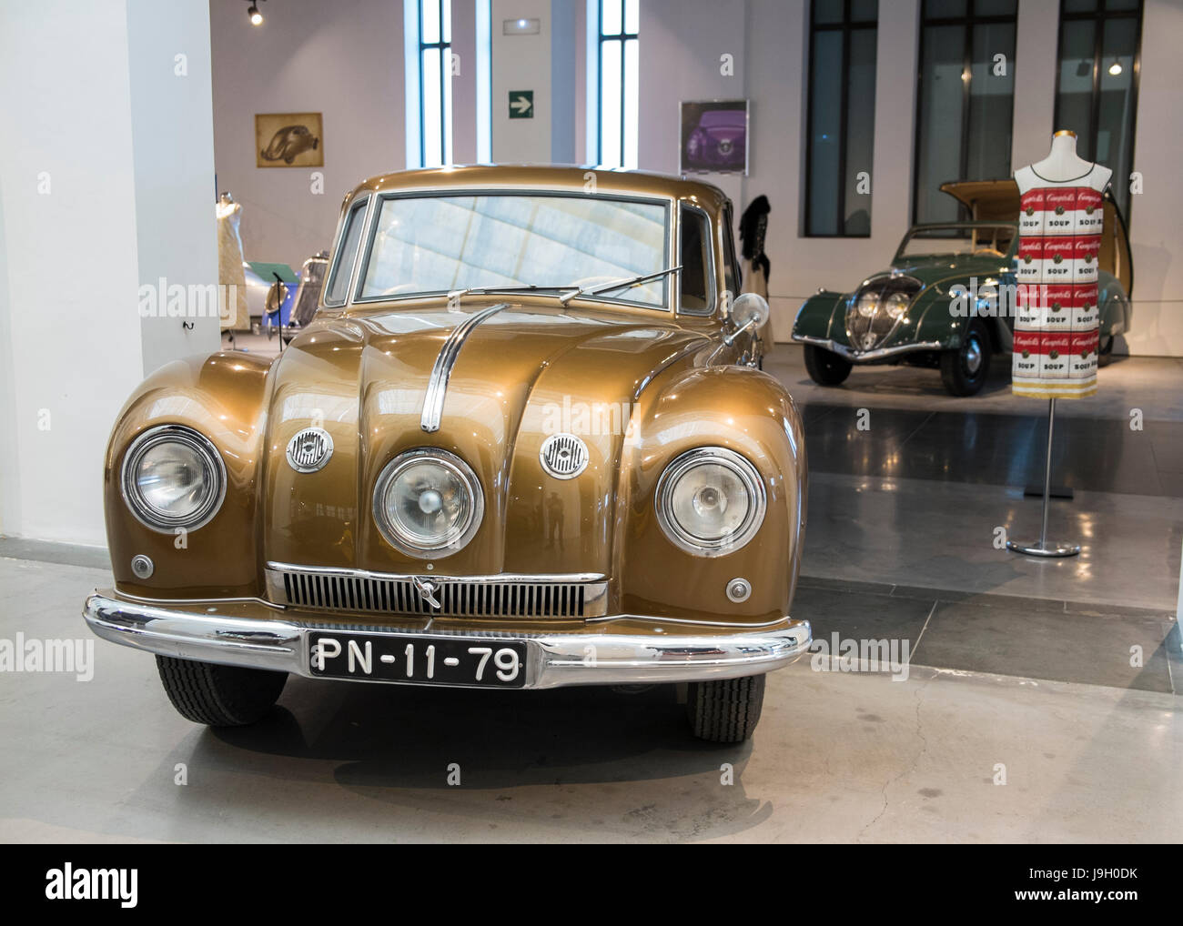 1947 Tatra T87. Automobile museum  of Málaga, Andalusia, Spain. - Stock Image