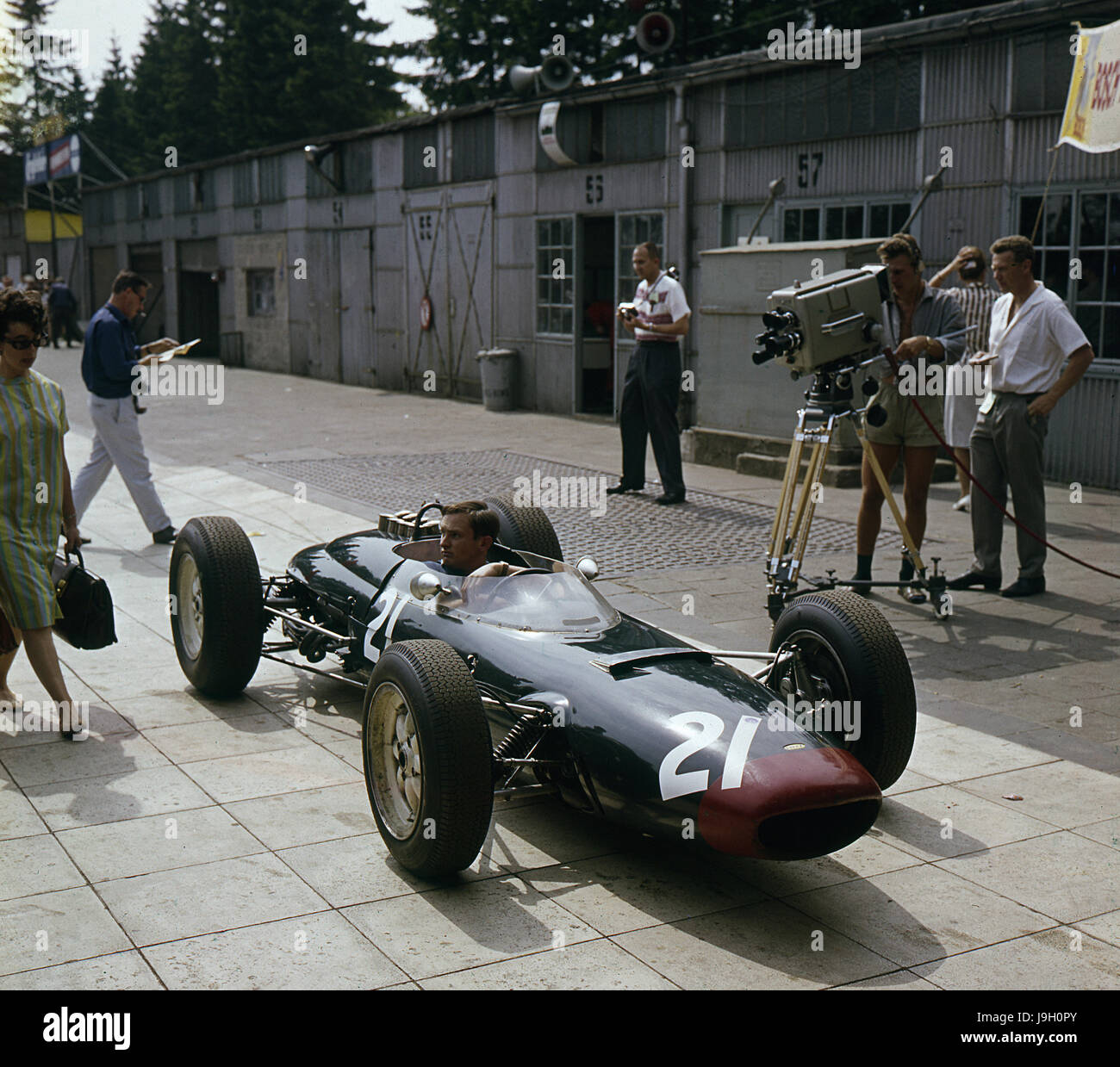 Lola Coventry Climax Chris Amon 1963 German GP - Stock Image