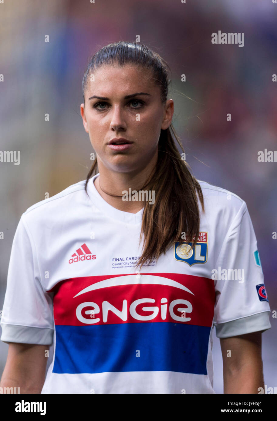 separation shoes 35df8 79e95 Cardiff, Wales. 1st June, 2017. Alex Morgan (Lyon) Football ...