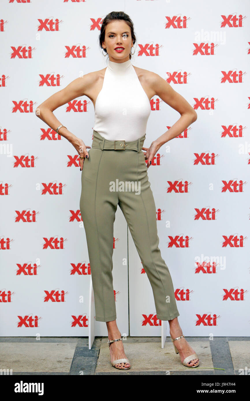 88339e5b Model Alessandra Ambrosio during the presentation of the new collection of XTI  shoes in Madrid on Friday 02 June 2017 Credit: Gtres Información más ...