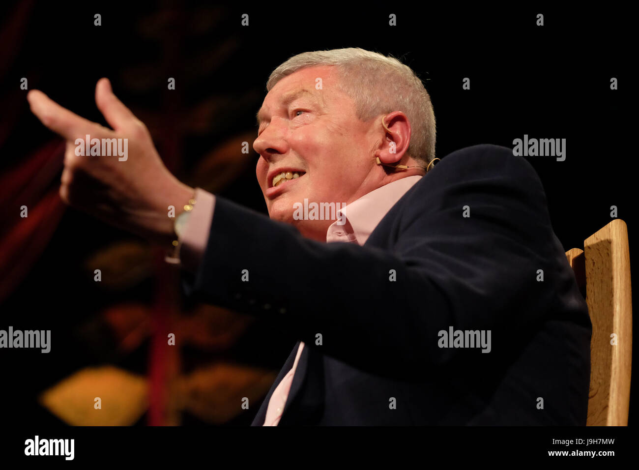 Hay Festival 2017 - Hay on Wye, Wales, UK - June 2017 - Alan Johnson former Labour politician on stage talking about - Stock Image