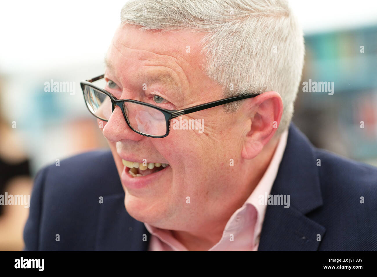 Hay Festival 2017 - Hay on Wye, Wales, UK - Friday 2nd June 2017 - Alan Johnson former Labour politician in the - Stock Image