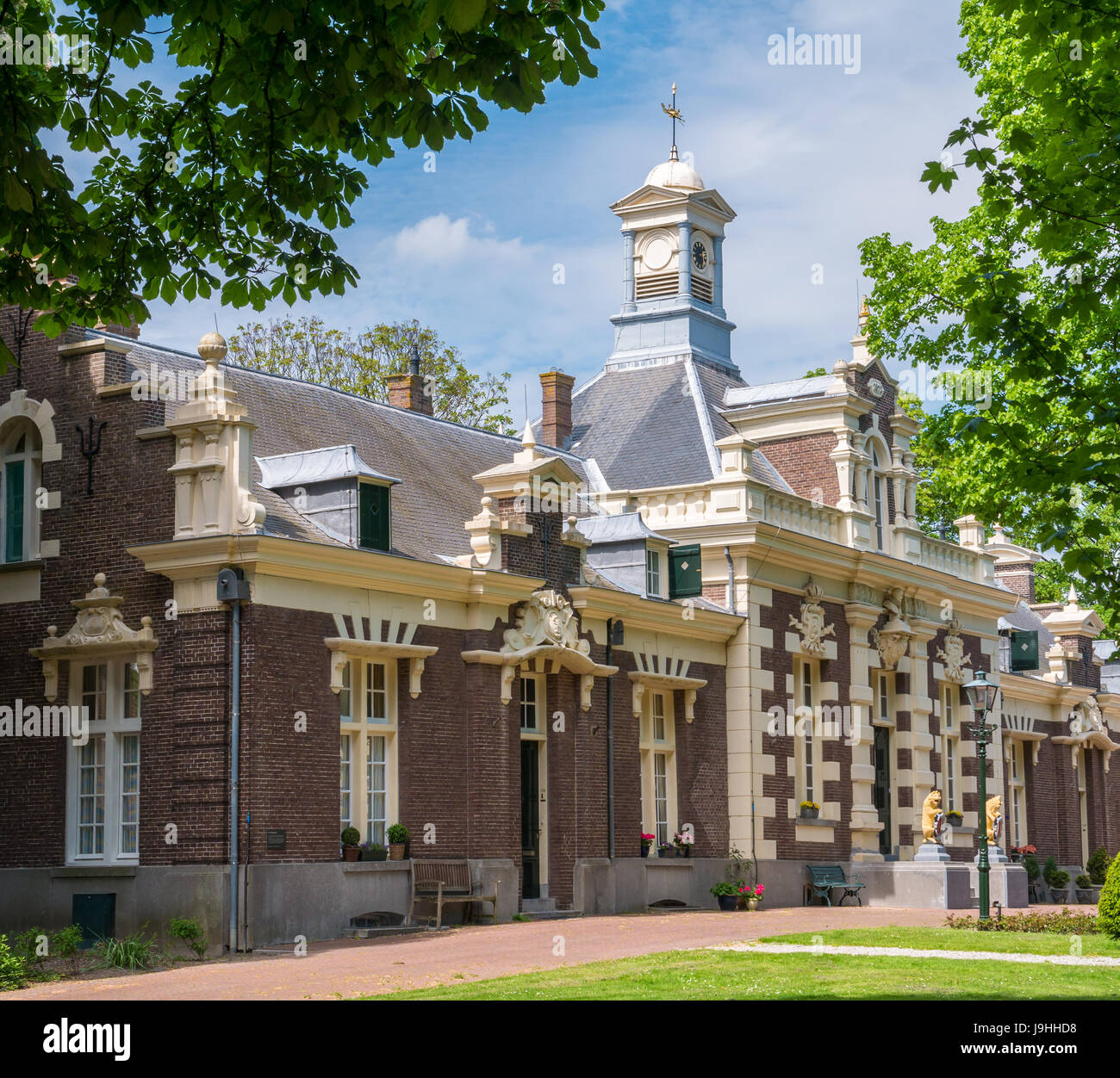 Main building of Asylum for old and poor Mariners in Brielle, Voorne-Putten, South Holland, Netherlands - Stock Image