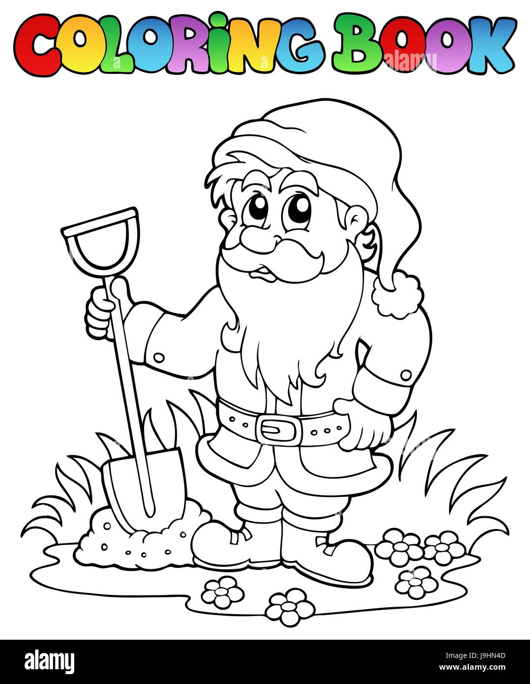 Colour Garden Dwarf Paint Painted Gnome Colouring Book Story Art