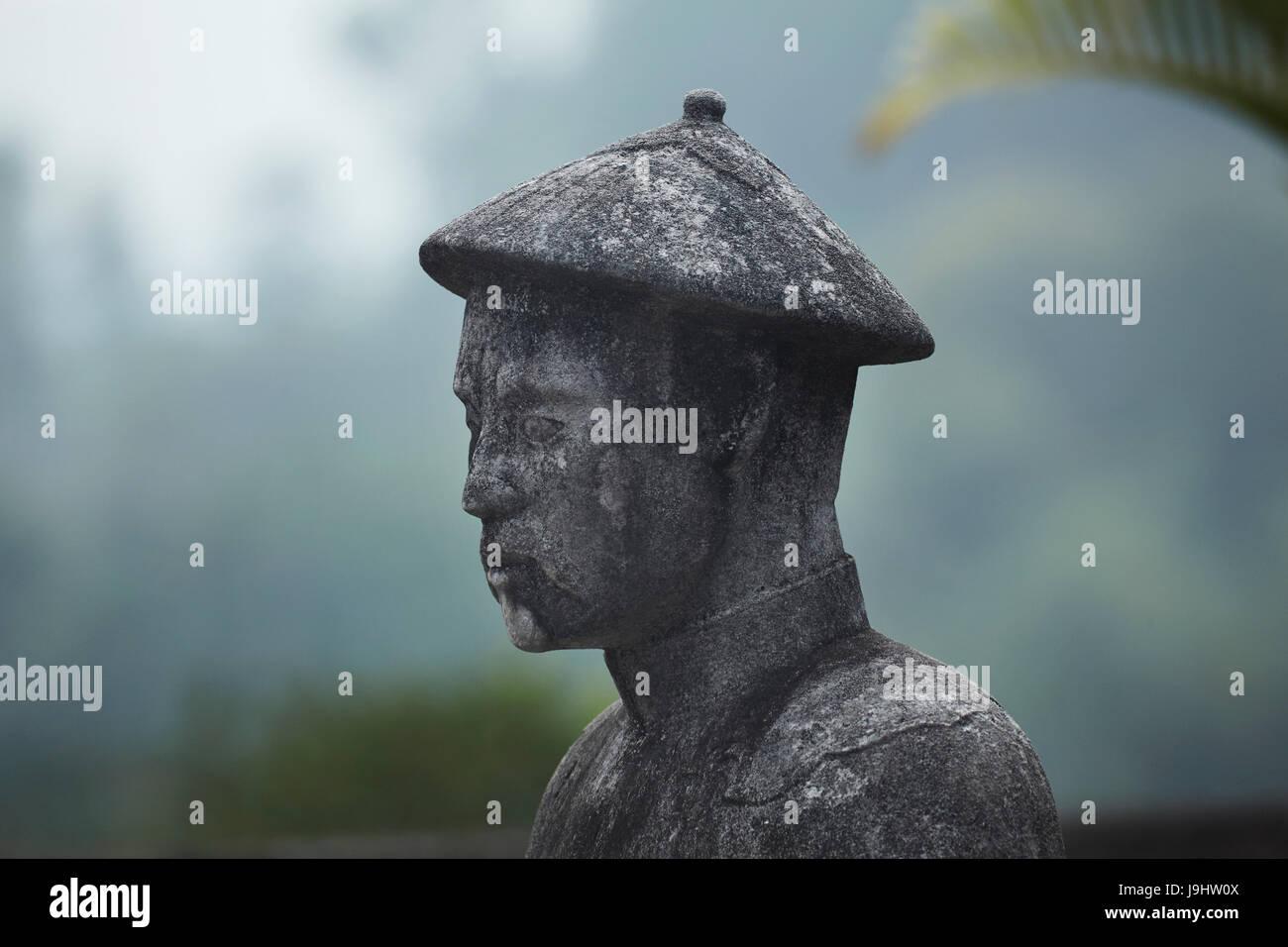 Stone Mandarin Honor Guard at Tomb of Khai Dinh, Hue, North Central Coast, Vietnam - Stock Image