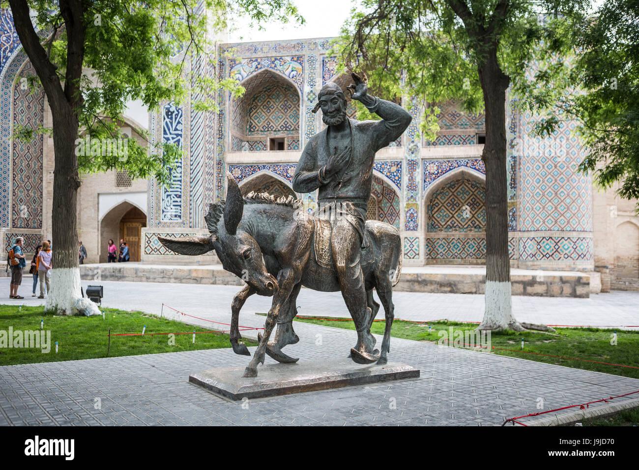 Uzbekistan, Bukhara City, Hoja Nasruddin Monument, (Sofi tales) - Stock Image