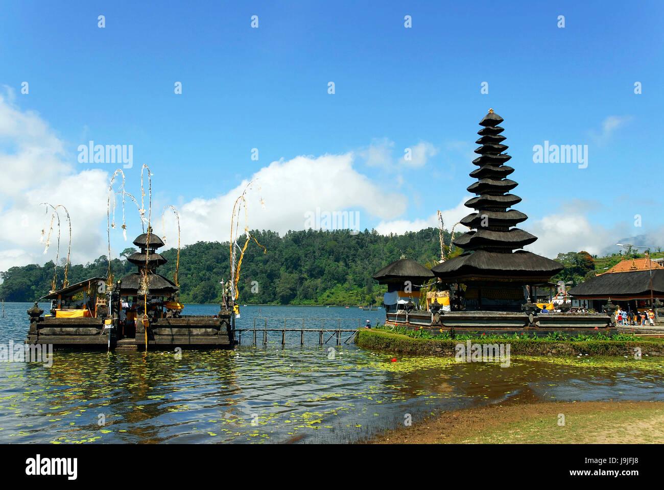 Indonesia Bali Island Bedugul Village Ulun Danu Temple On