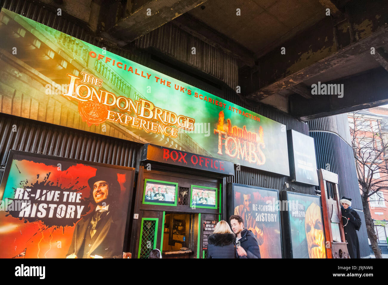 England, London, Southwark, The London Bridge Experience and London Tombs Attraction Ticket Office - Stock Image