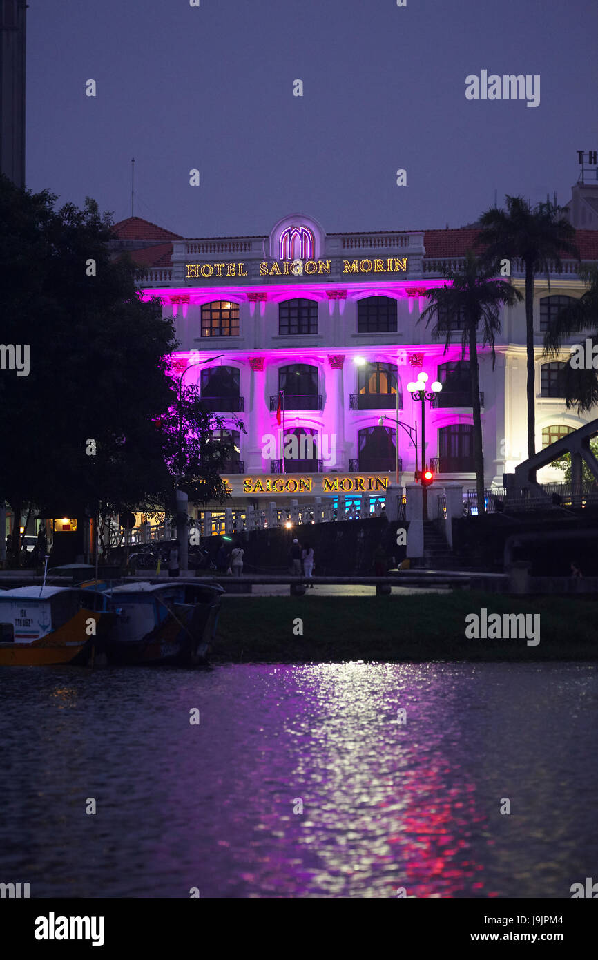 Hotel Saigon Morin and Perfume River, Hue, North Central Coast, Vietnam Stock Photo