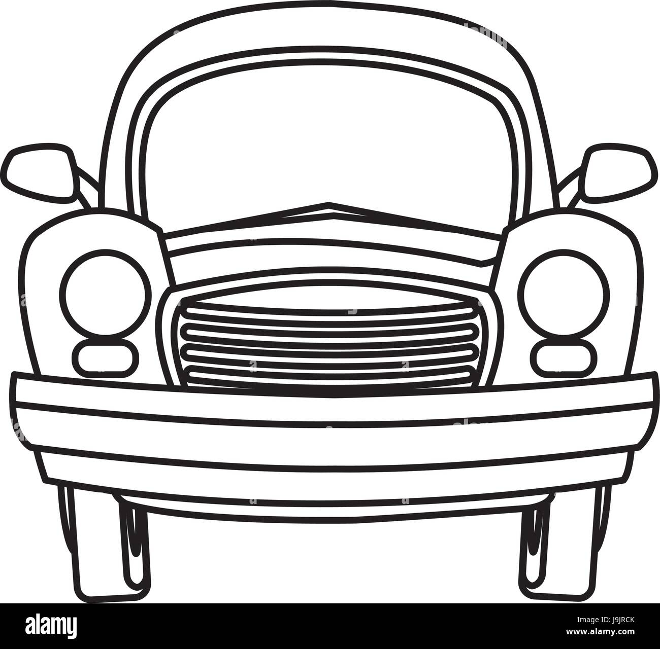 vintage motor car stock vector images alamy German Ford Capri cartoon car transport travel empty stock vector