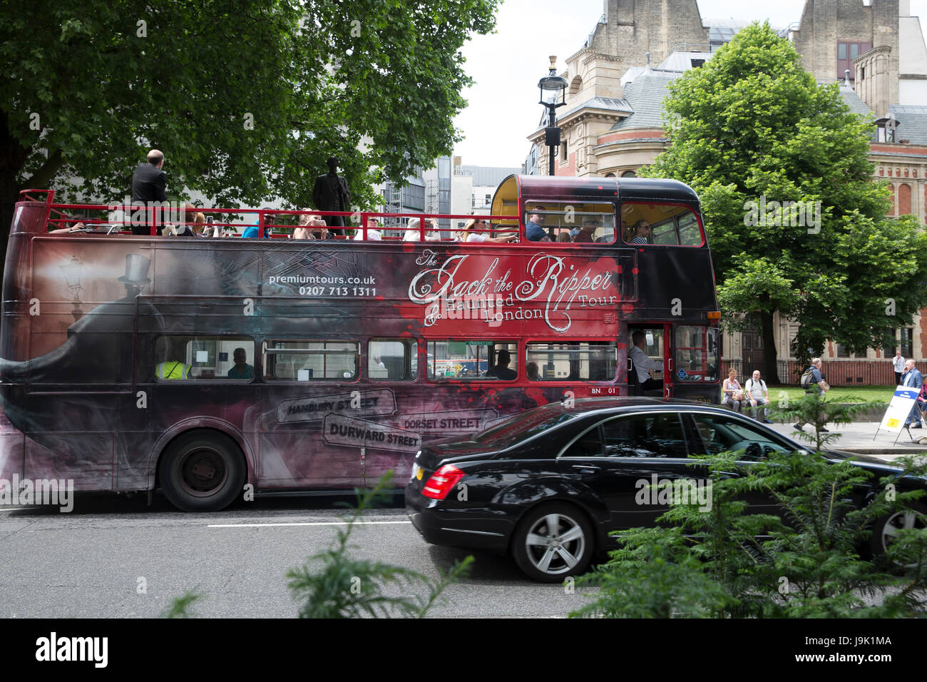 Jack The Ripper London tour Bus in London Stock Photo