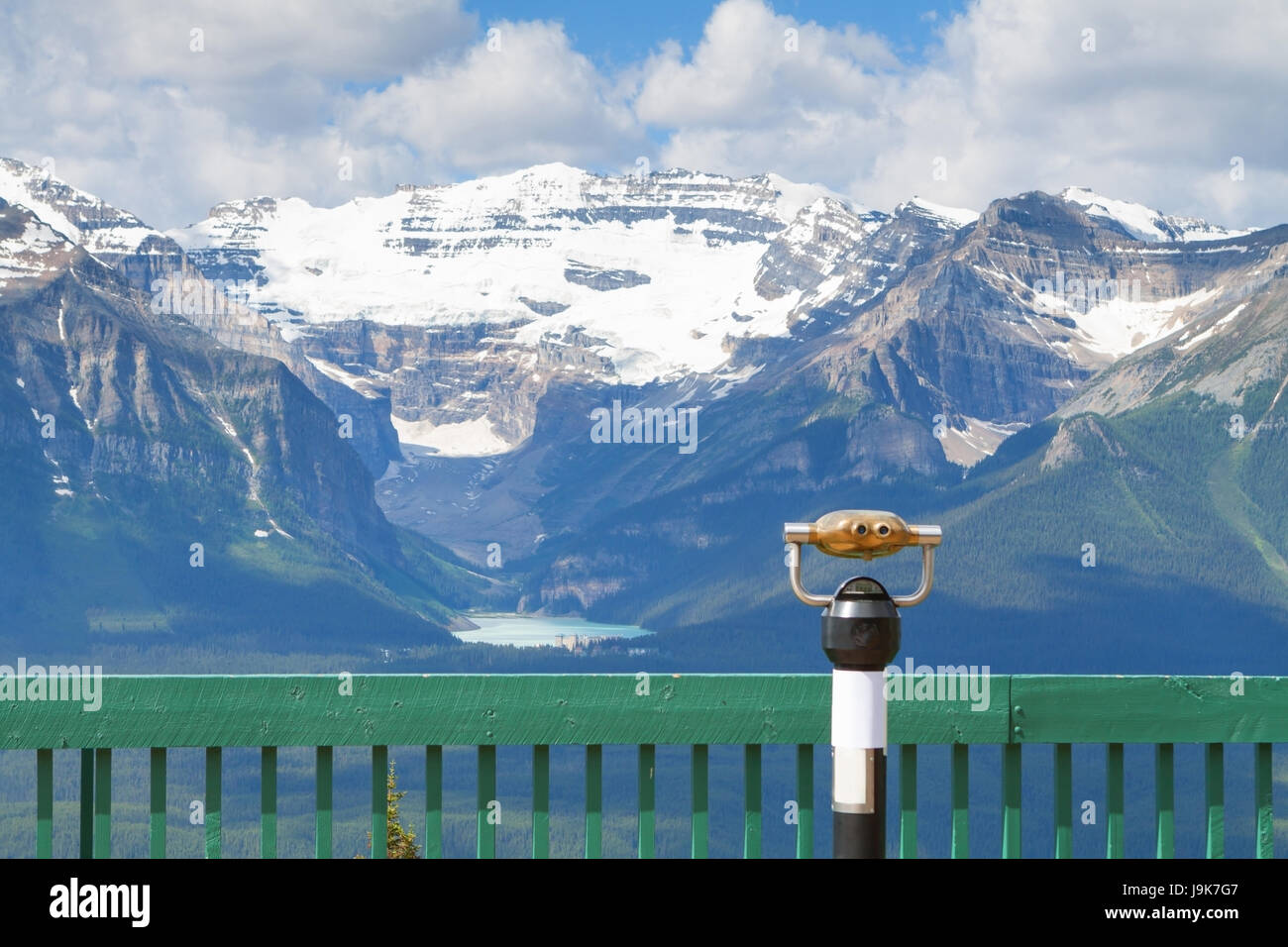 Lake Louise In Banff National Park And The Canadian Rockies - Stock Image