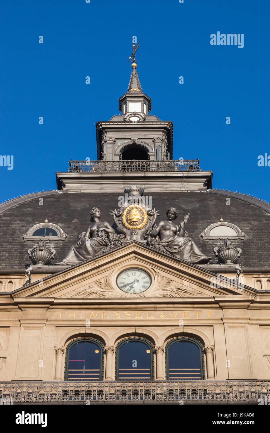 Denmark, Zealand, Copenhagen, detail of Magasin Du Nord store - Stock Image