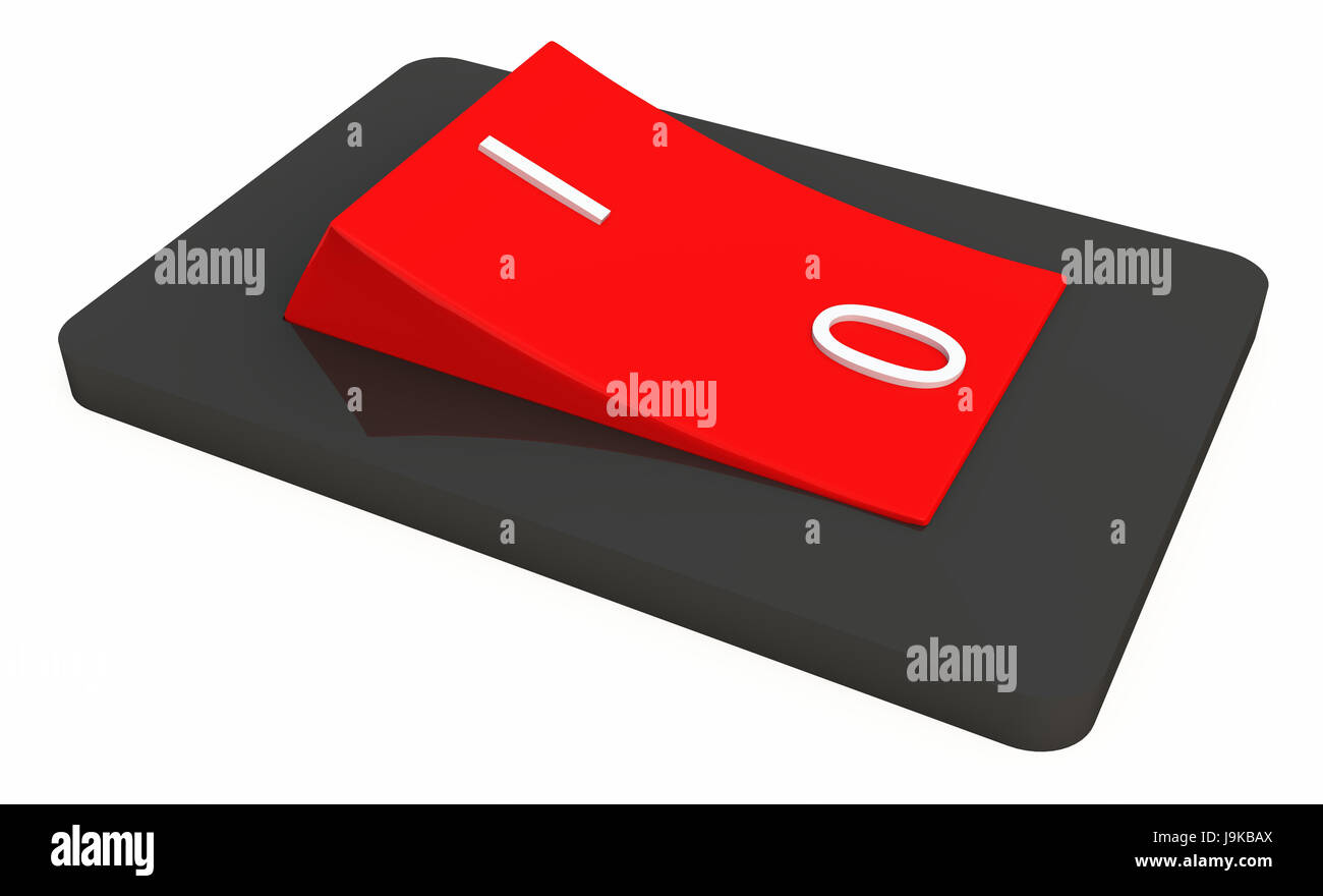 switch,out,one,toggle switch,3d,on,off,an - Stock Image