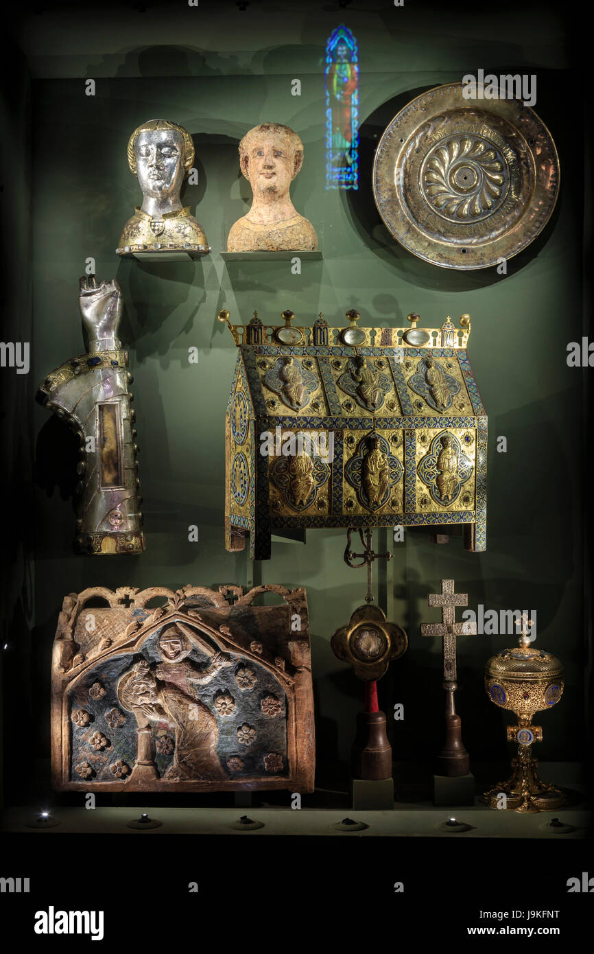 France, Indre, Saint Marcel, the church, the treasure - Stock Image