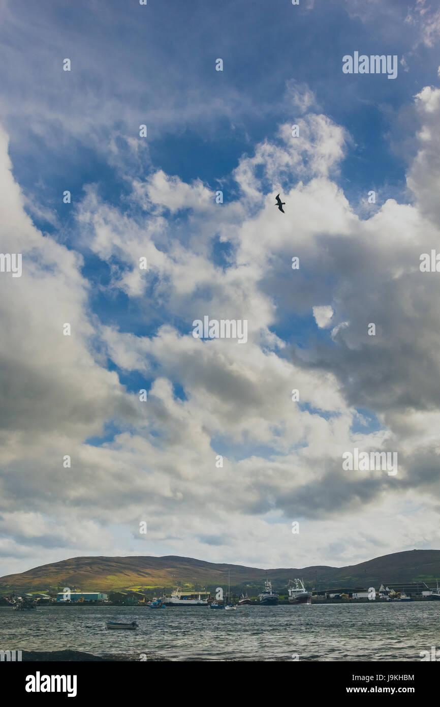 scenic view of the coasts of ireland. - Stock Image