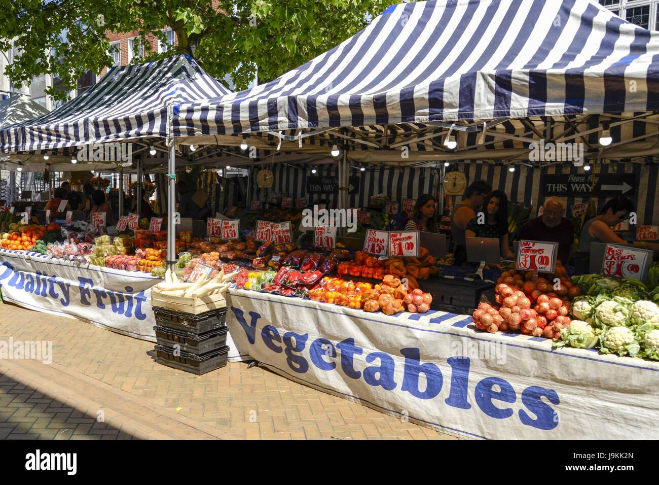 Friday Market, High Street, Chelmsford, Essex, England, UK - Stock Image