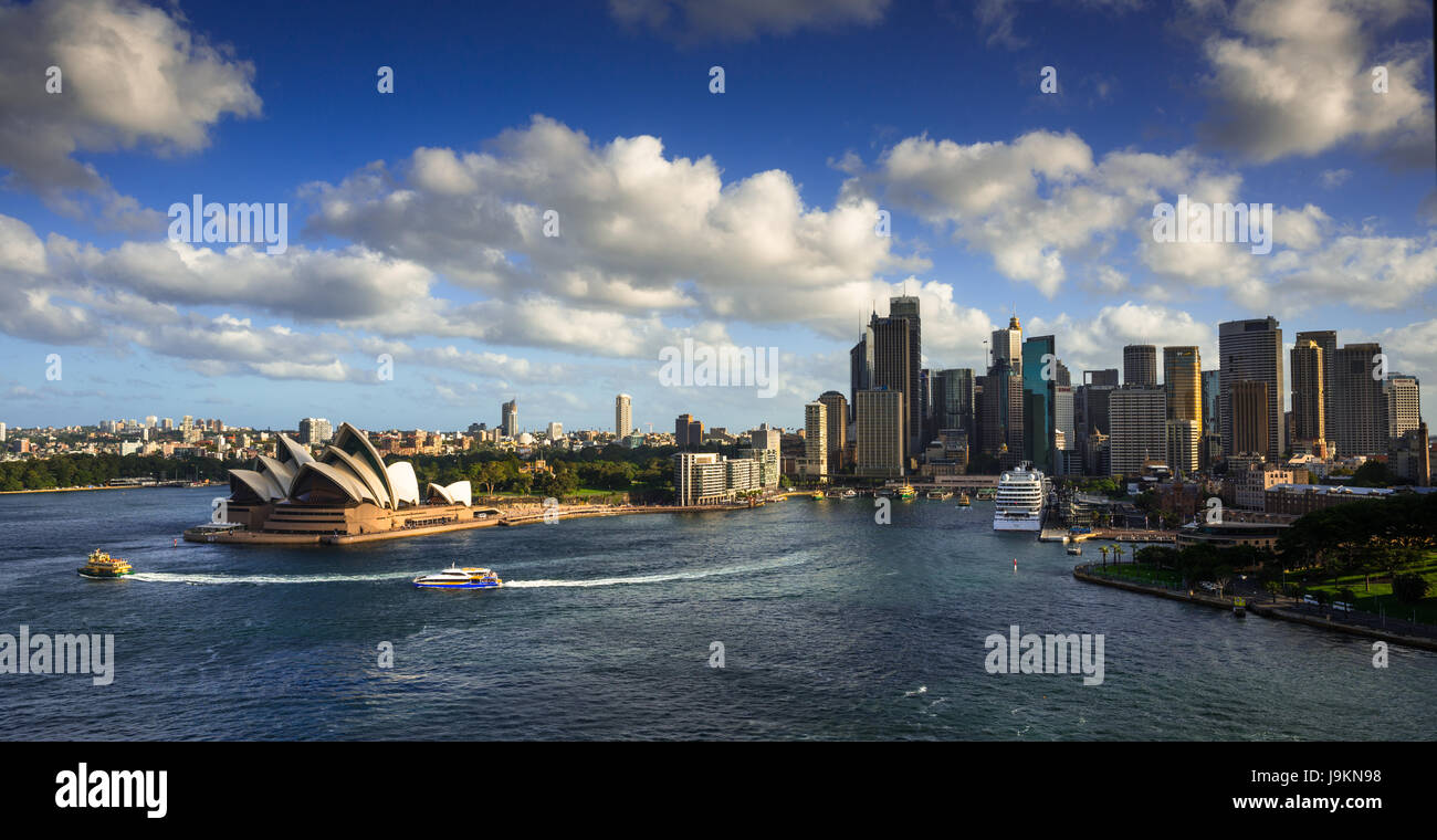 aerial view of sydney harbour skyline with the opera house sydney J9KN98 - Get Satellite Image Of Sydney Opera House  Pictures