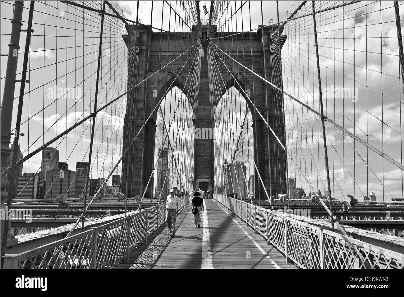 brooklyn bridge, new york, usa - Stock Image
