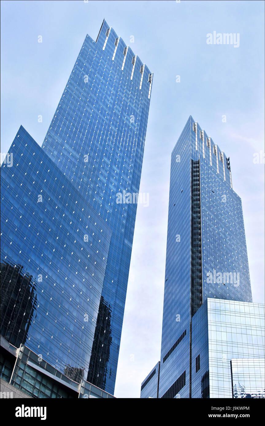 time warner centre, columbus circle, manhattan, new york, usa - Stock Image