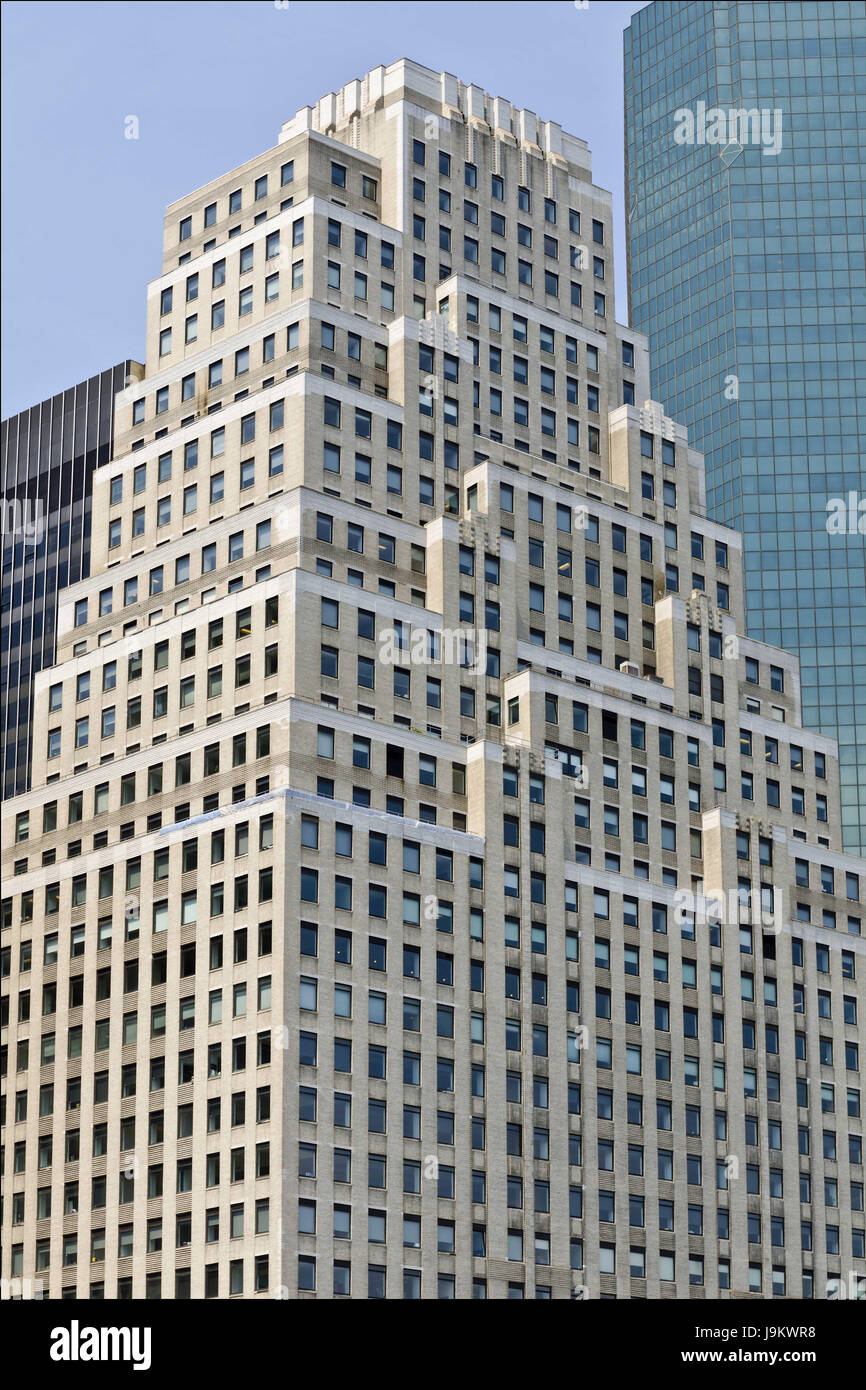 120 wall street building, new york, usa - Stock Image