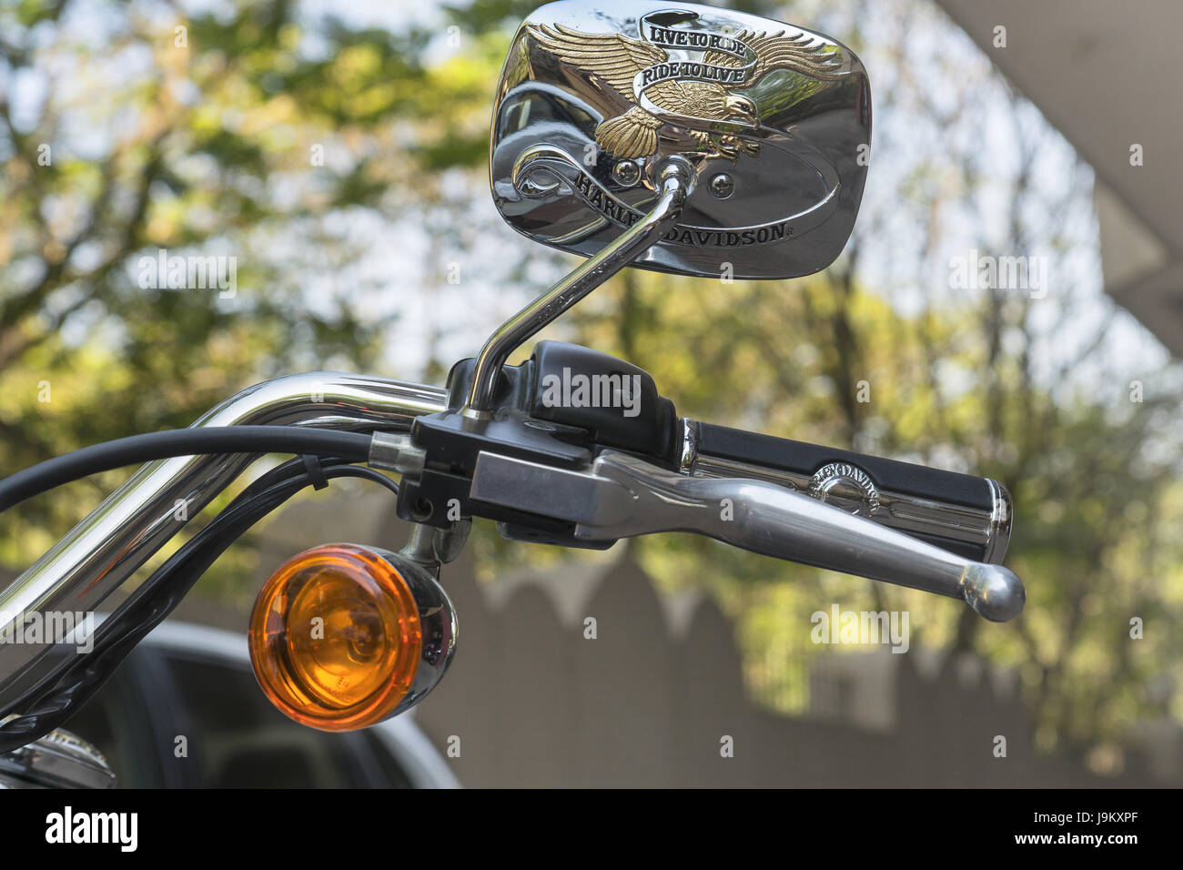 Harley Davidson motorcycle, India, Asia - Stock Image