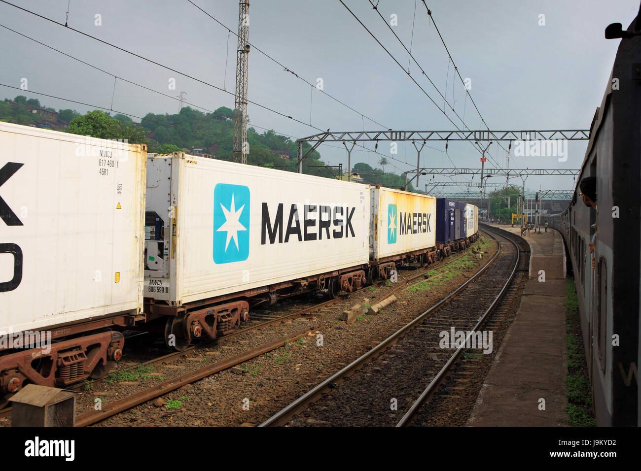 Railways for Imports and Exports, India, nashik, maharashtra, India, Asia Stock Photo