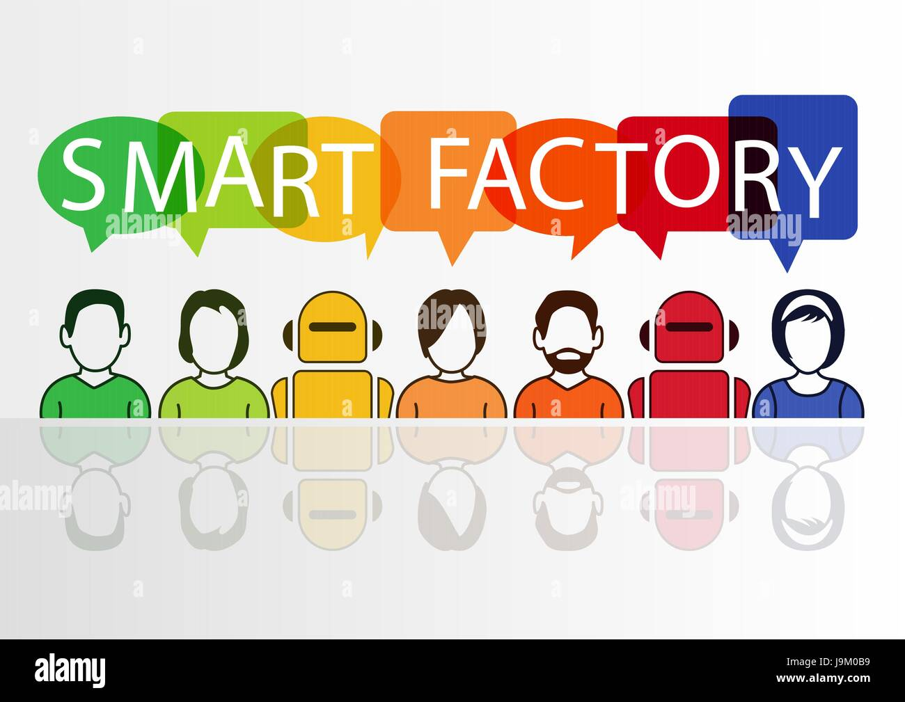 Smart Factory concept as vector illustration - Stock Vector
